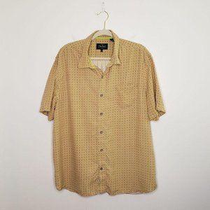 Nat Nast Silk Shirt Luxury Button Down Top